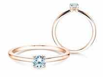Engagement ring Classic 4 in 14ct rosé gold with diamond 0,25ct G/SI