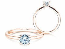 Engagement ring Classic 4 in 14K rosé gold with diamond 0.50ct