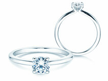 Engagement ring Classic 4 in 14K white gold with diamond 0.50ct