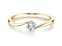 Engagement ring Devotion in 14K yellow gold with diamond 0.50ct