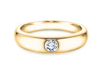 Engagement ring Promise in 18ct yellow gold with diamond 0,05ct G/SI