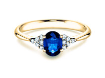 Sapphire ring Glory in yellow gold