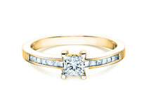 Diamond ring Chloe  in 18ct yellow gold with diamond 0,84ct