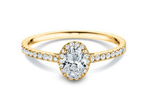 Engagement ring Pure Emotion in 18K yellow gold with diamonds 0.93ct
