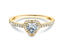 Engagement ring Pure Love in 18K yellow gold with diamonds 0.93ct