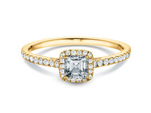 Engagement ring Pure Life in 18K yellow gold with diamonds 0.97ct