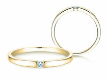 Engagement ring Infinity Petite in 14ct yellow gold with diamond 0,03ct