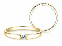Engagement ring Infinity Petite in 14ct yellow gold with diamond 0,06ct
