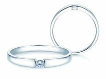 Engagement ring Infinity Petite in 14ct white gold with diamond 0,06ct
