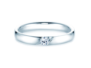 Engagement ring italic in silver 925/- with diamond 0.10ct