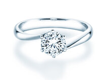 Engagement ring Devotion in 14K white gold with diamond 1.00ct