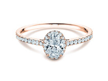Engagement ring Pure Emotion in 18K rosé gold with diamonds 0.93ct