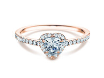 Engagement ring Pure Love in 18K rosé gold with diamonds 0.93ct