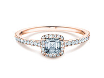 Engagement ring Pure Life in 18K rosé gold with diamonds 0.97ct