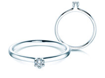 Engagement ring Classic  in silver with diamond 0,05ct G/SI