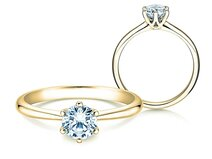 Engagement ring Spirit in 14ct yellow gold with diamond 0,75ct G/SI
