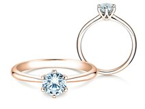 Engagement ring Spirit in 14ct rosé gold with diamond 0,75ct G/SI