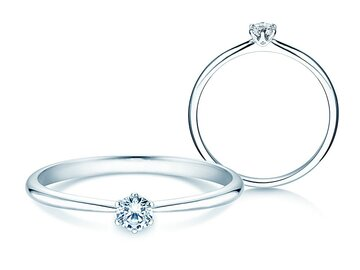 Engagement ring Spirit in silver 925/- with diamond 0.15ct