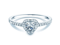 Engagement ring Pure Love in 18K white gold with diamonds 0.93ct