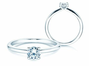 Engagement ring Classic 4 in silver