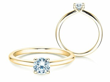Engagement ring Classic 4 in yellow gold