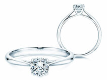 Engagement ring Delight in 14K white gold with diamond 0.50ct
